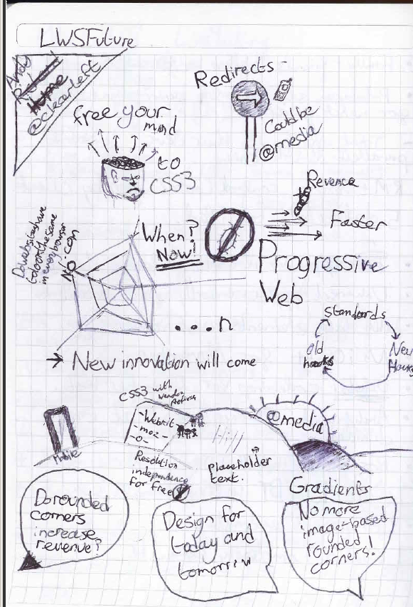 Sketch Notes of The Progressive Web with Andy Hume